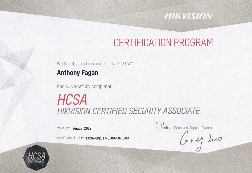 Ants Antennas are a Hikvision Certified Security Associate